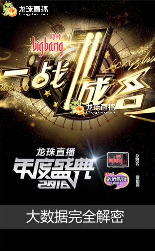 """2016龙珠直播年度盛典""""一战成名""""海报.jpg"""